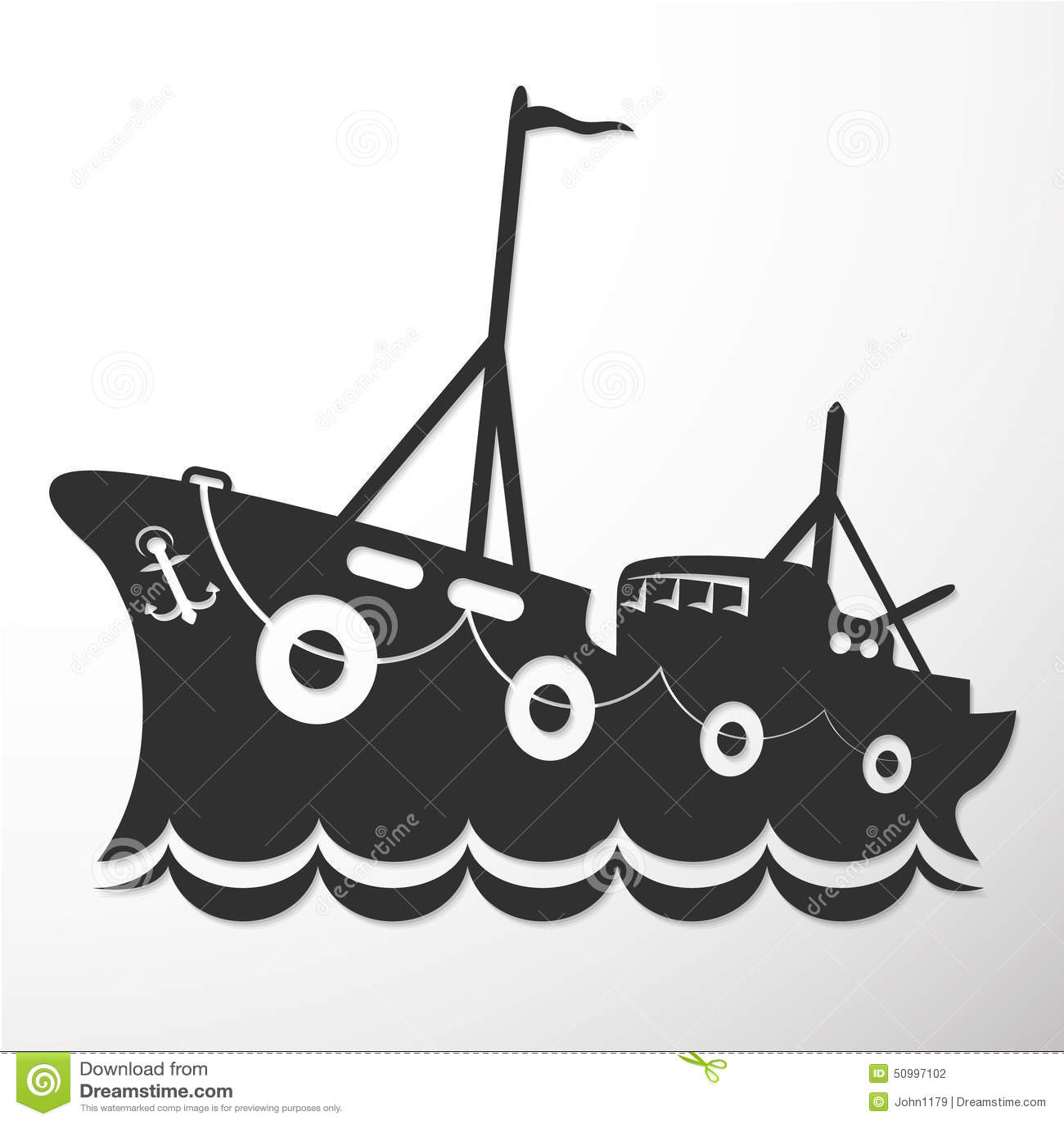 bateau de peche vector
