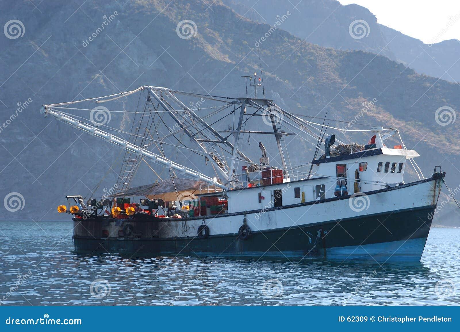Download Bateau de pêche mexicain image stock. Image du crevette - 62309