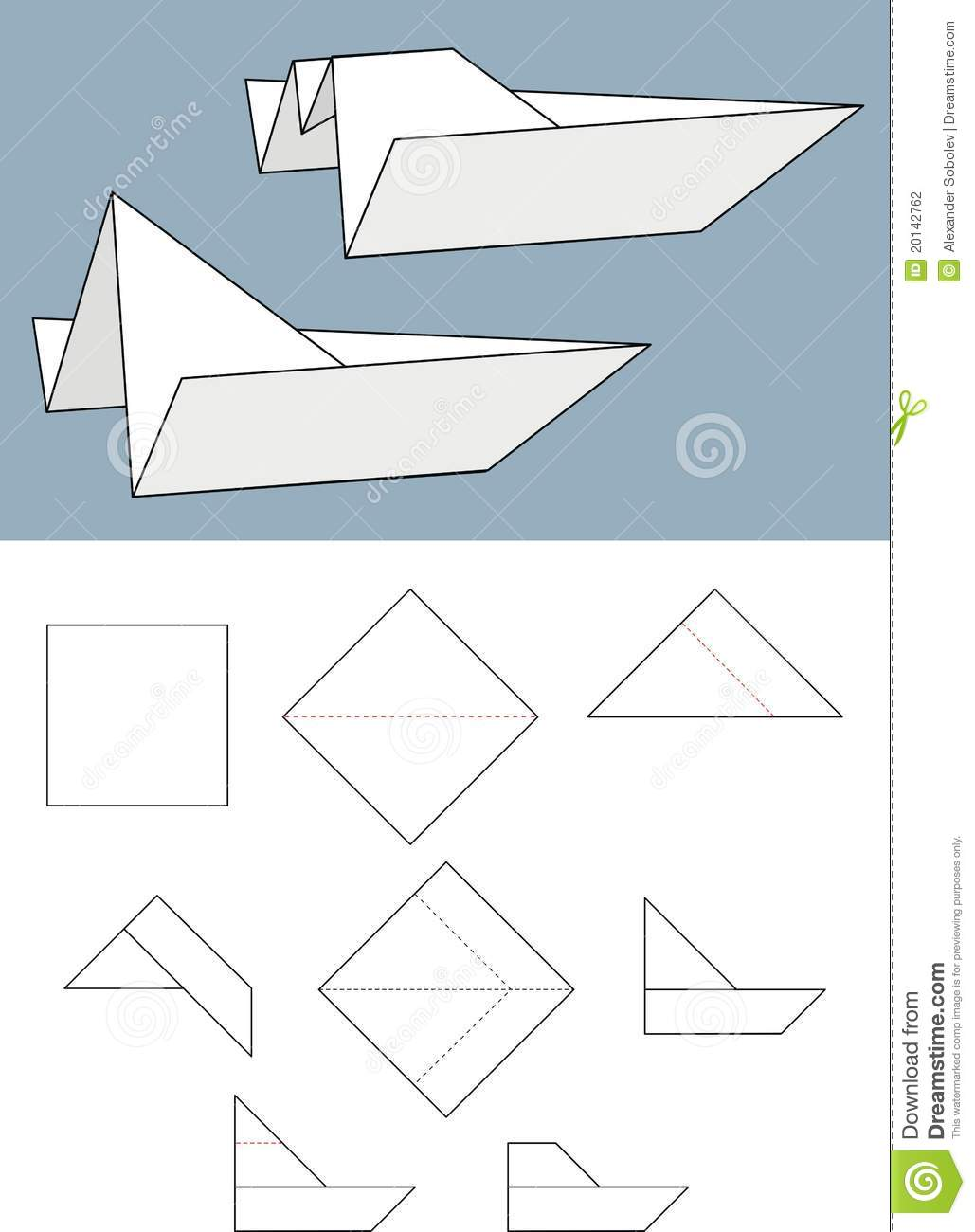 bateau de papier origami illustration de vecteur image 20142762. Black Bedroom Furniture Sets. Home Design Ideas