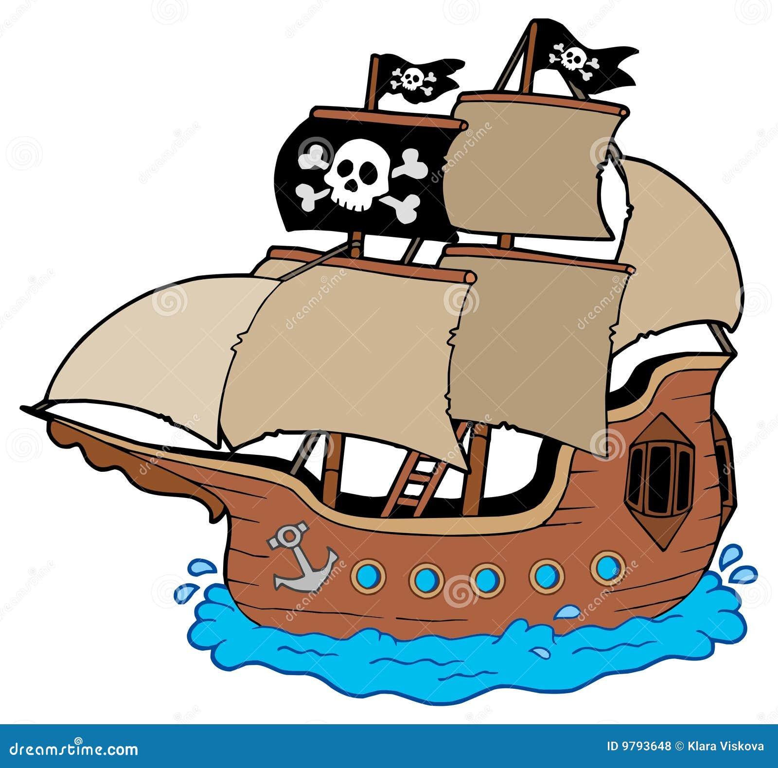 Bateau de pirate illustration de vecteur illustration du - Image bateau pirate ...