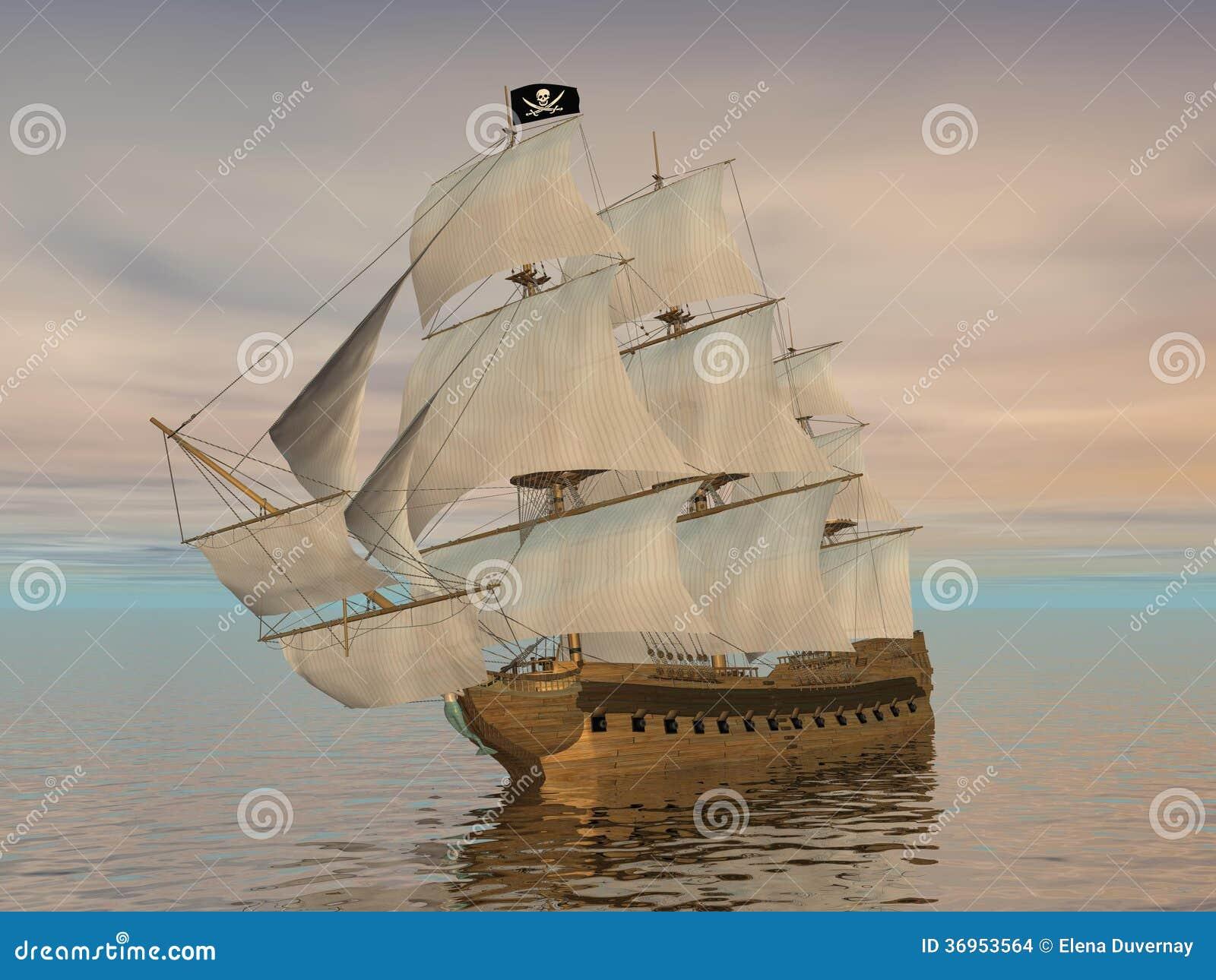 Bateau de pirate 3d rendent images stock image 36953564 - Image bateau pirate ...