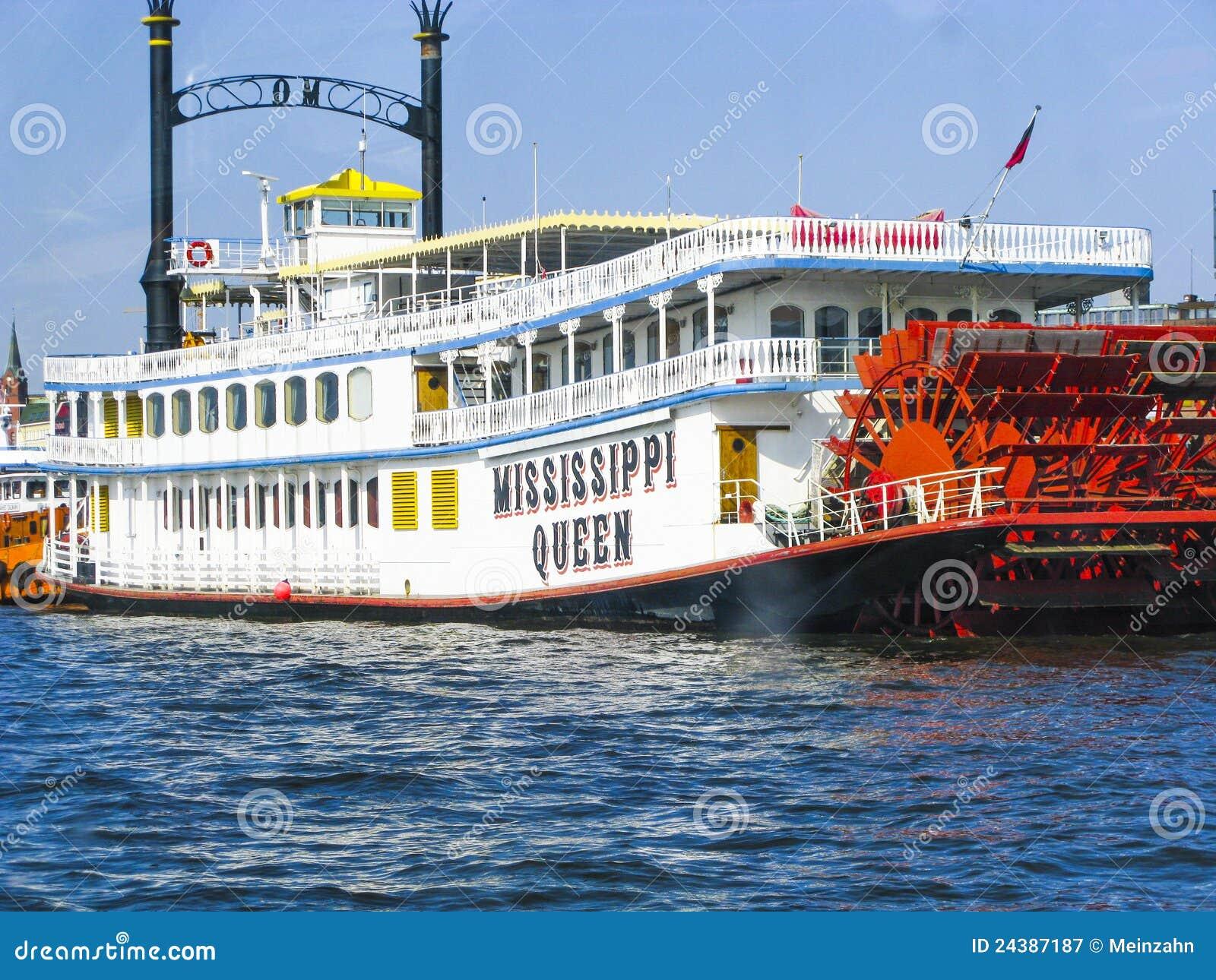 bateau de vapeur de reine du mississippi photographie stock libre de droits