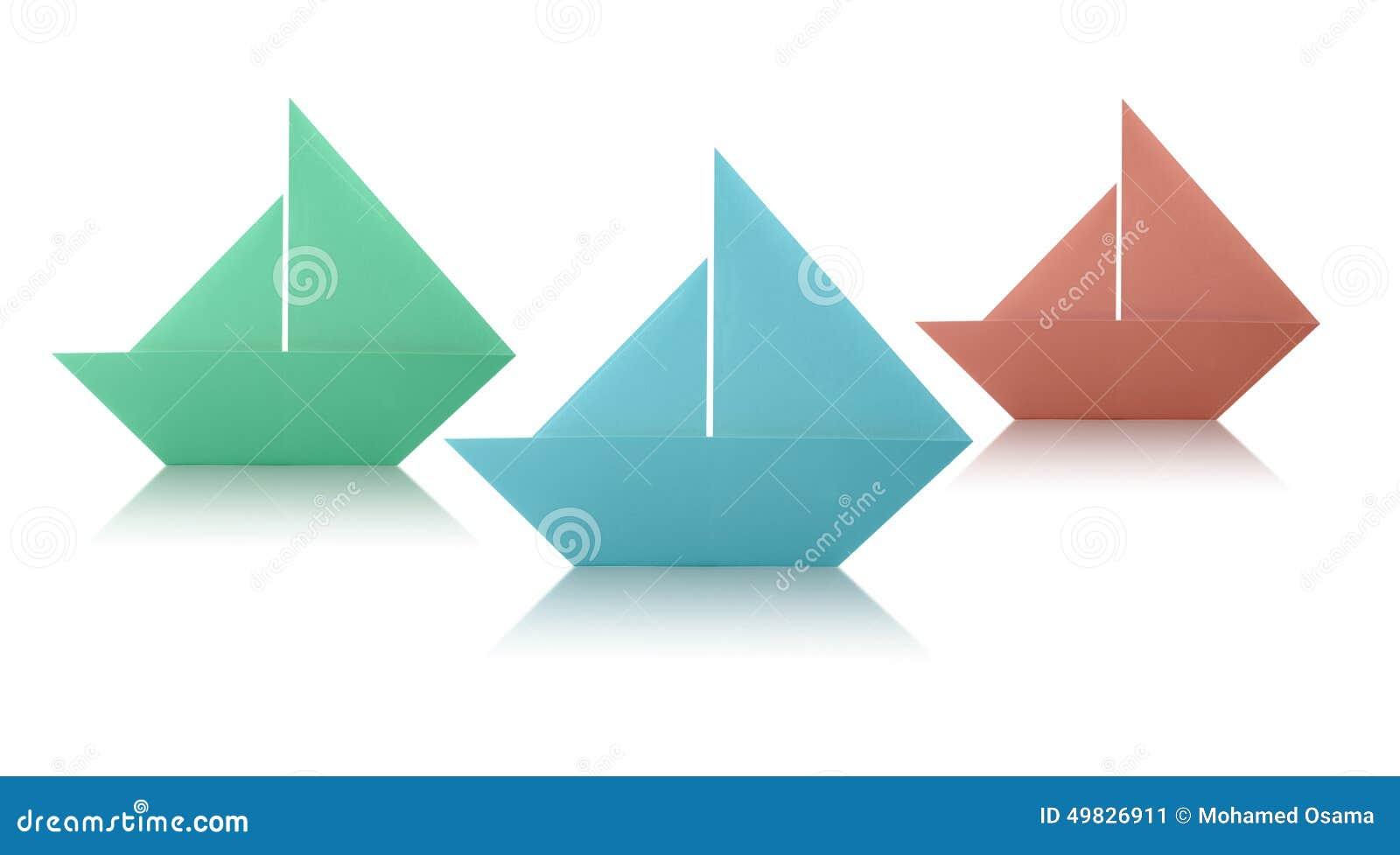 Bateaux A Voile De Papier D Origami Image Stock Image Du Voile Bateaux 49826911