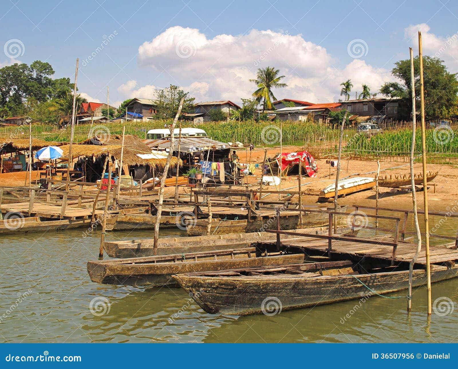 Bateaux chez le Mekong