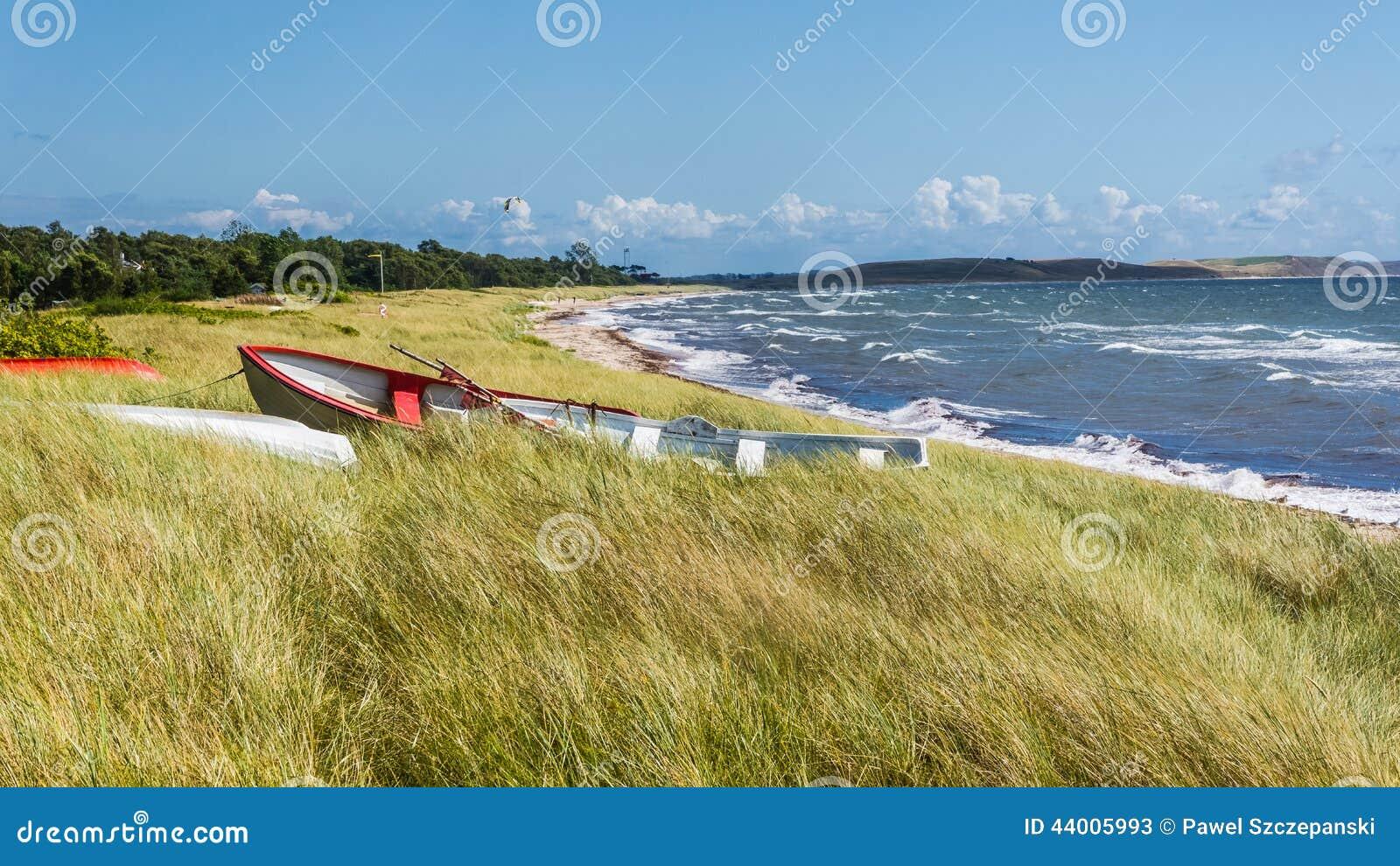 Bateaux dans l herbe près de Ystad