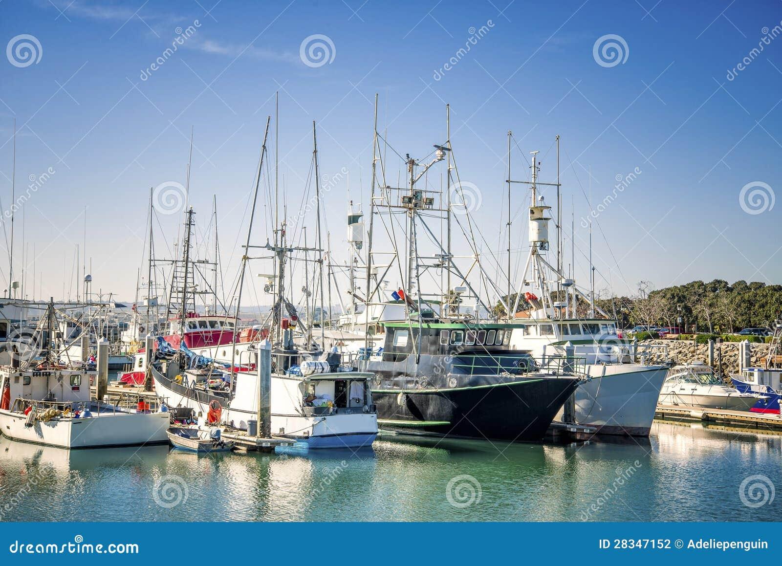 Bateaux de pêche, San Diego, la Californie