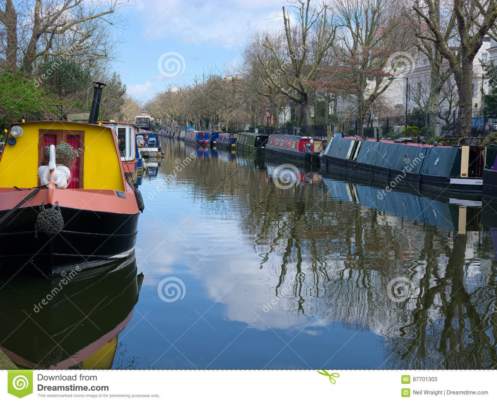 Bateaux-maison de canal Peu de Venise Londres