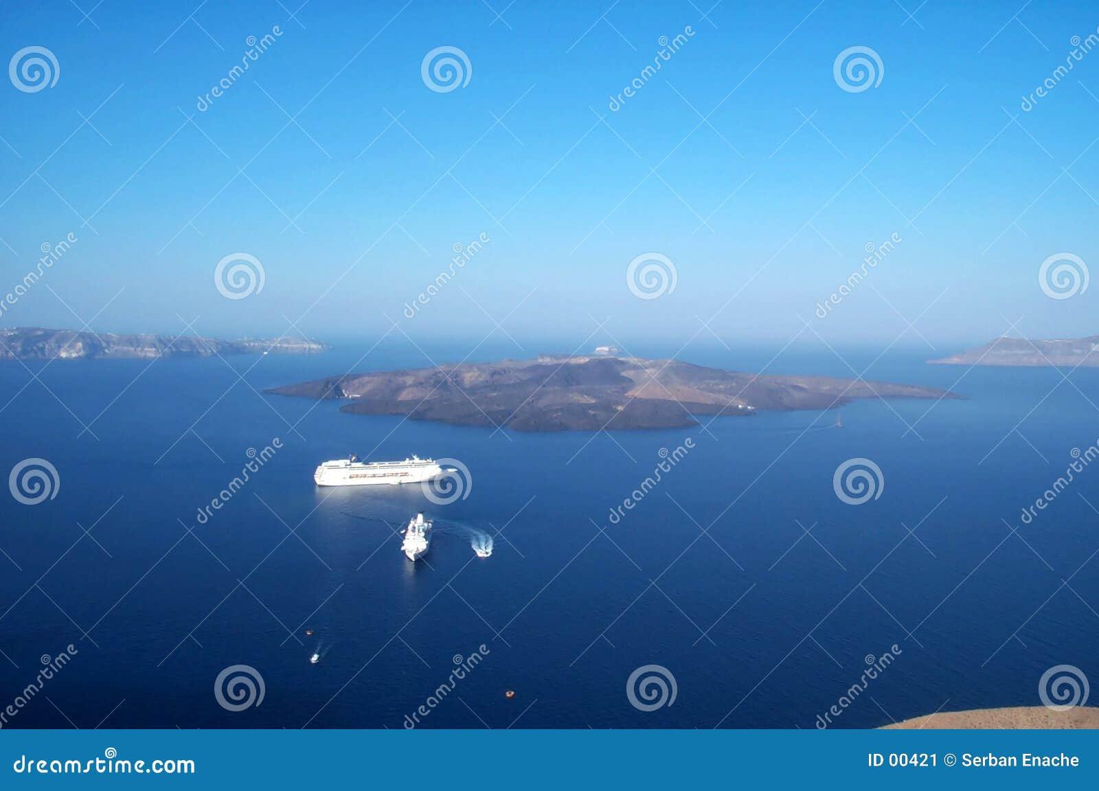 Bateaux sur l océan