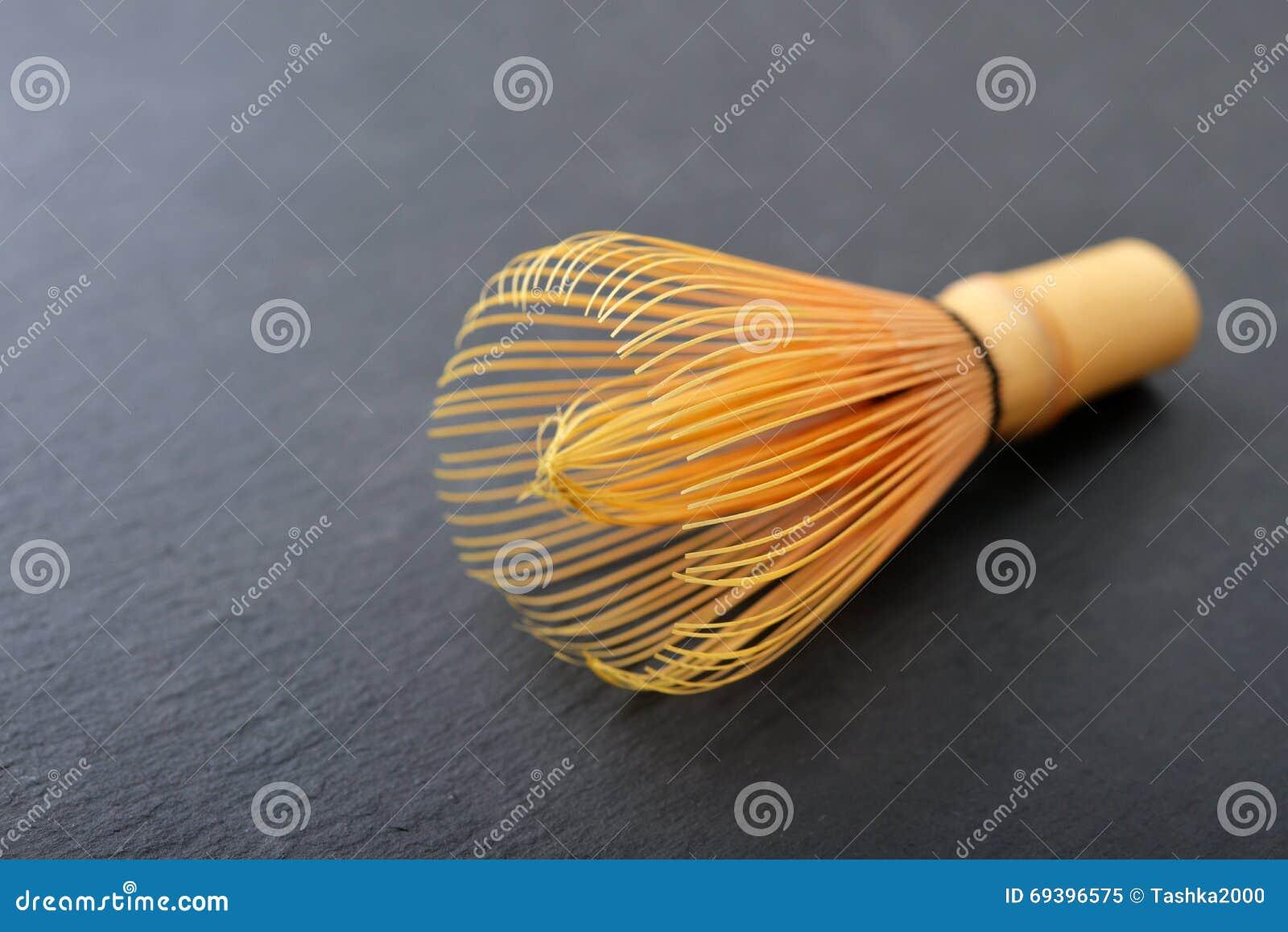 Batedor de ovos de bambu do matcha