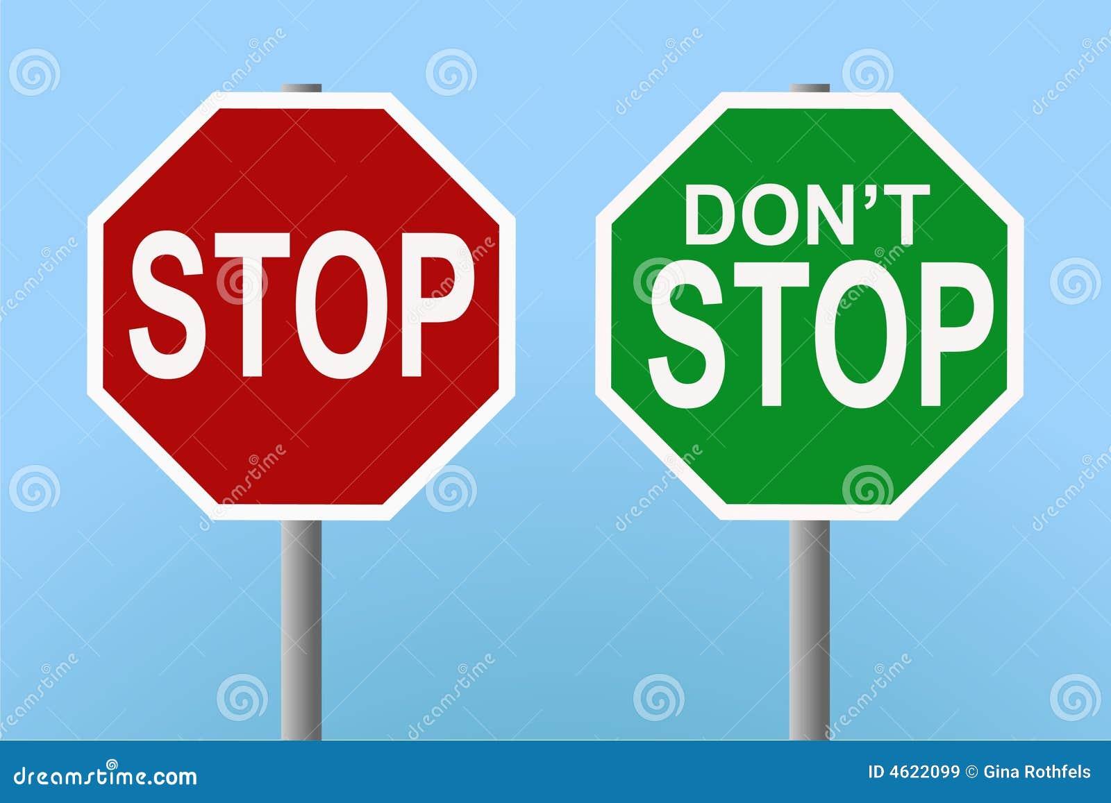 Batente - não pare sinais