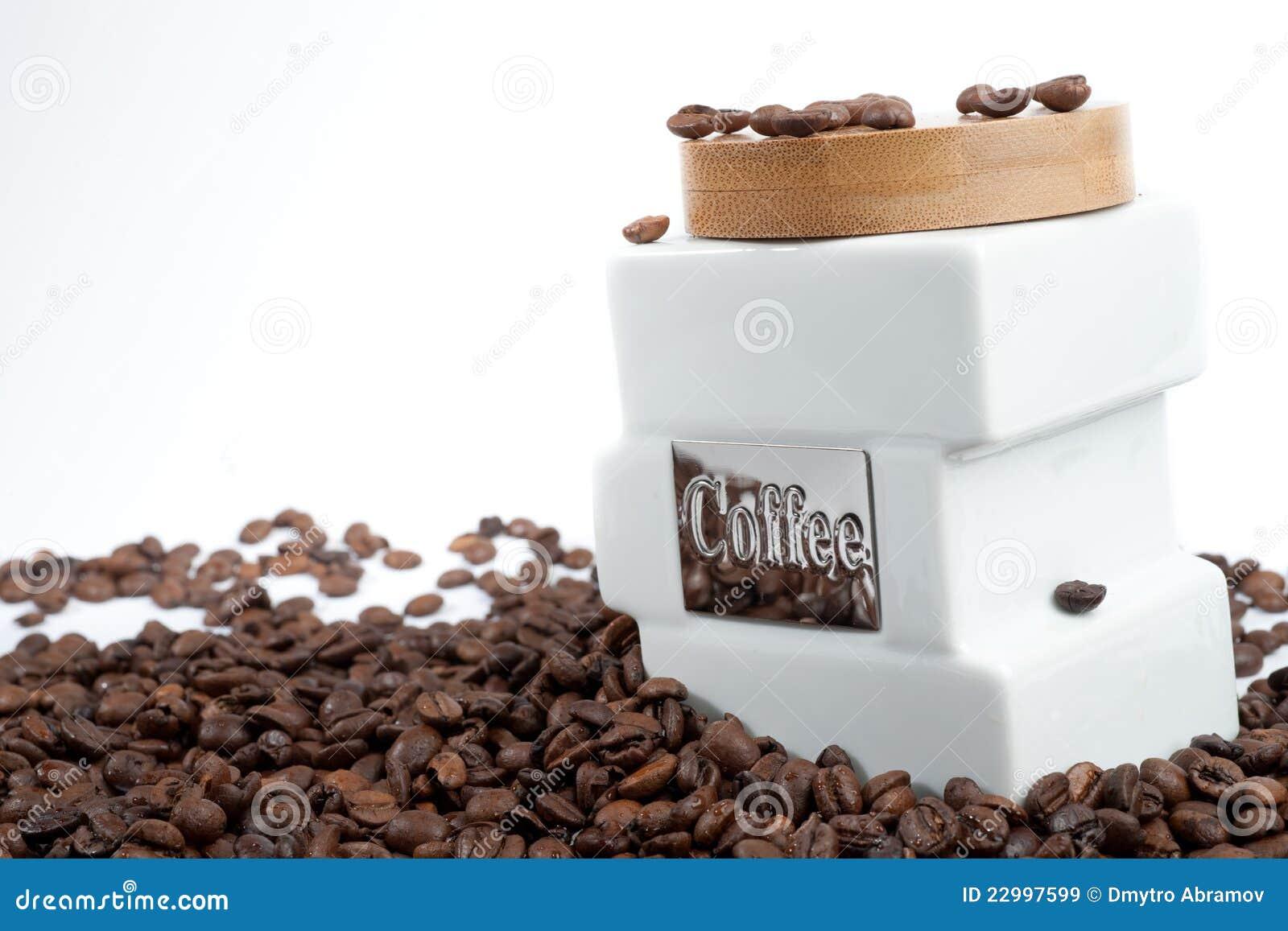 Batería para el café y los granos de café
