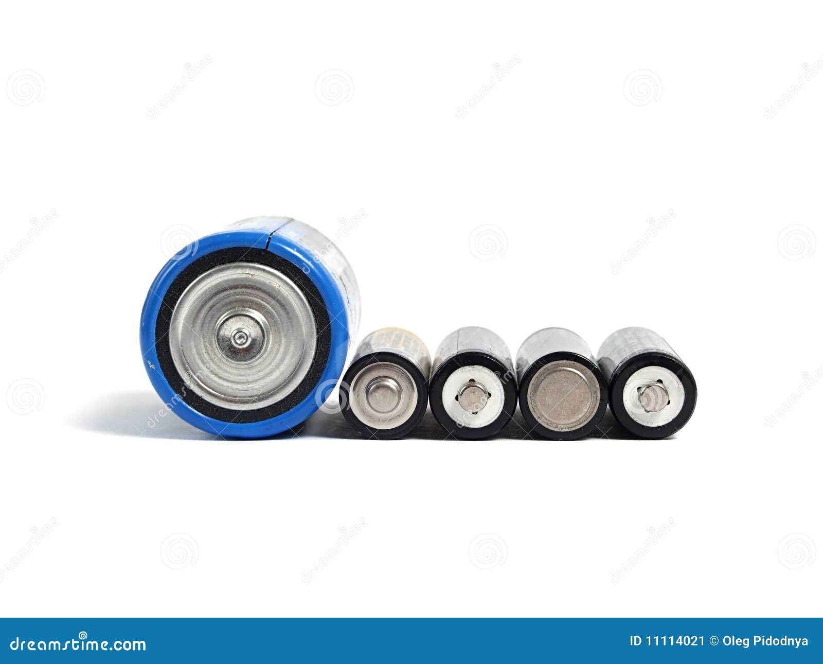 Baterias grandes e pequenas