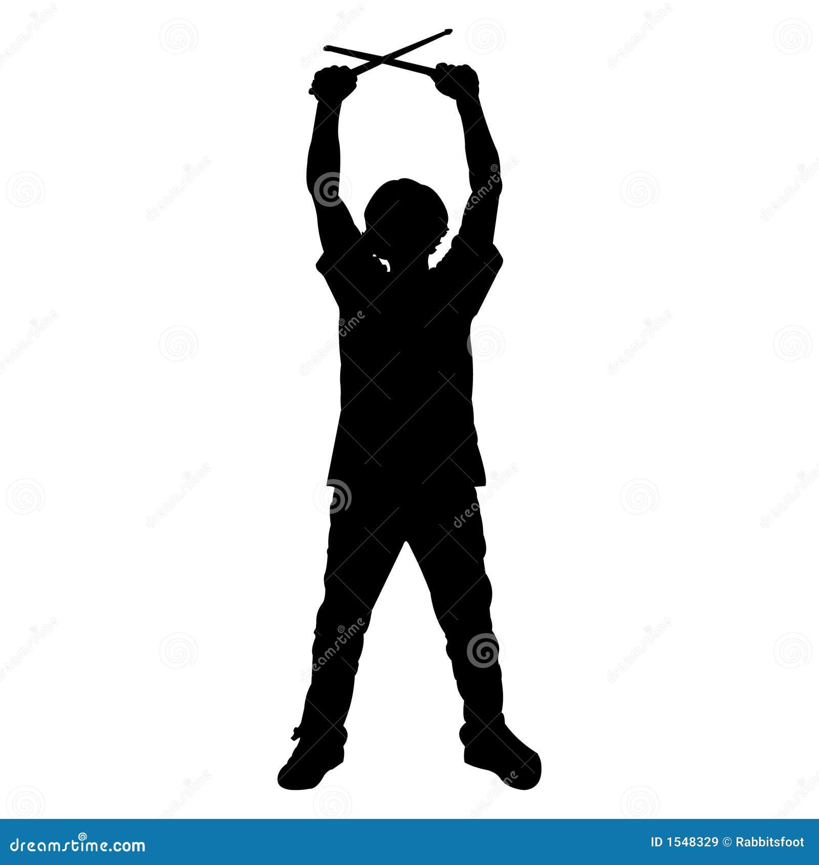 Baterista adolescente - silhueta