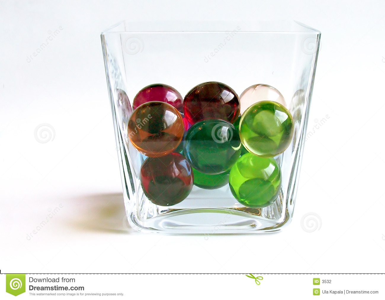 Bath balls in a container