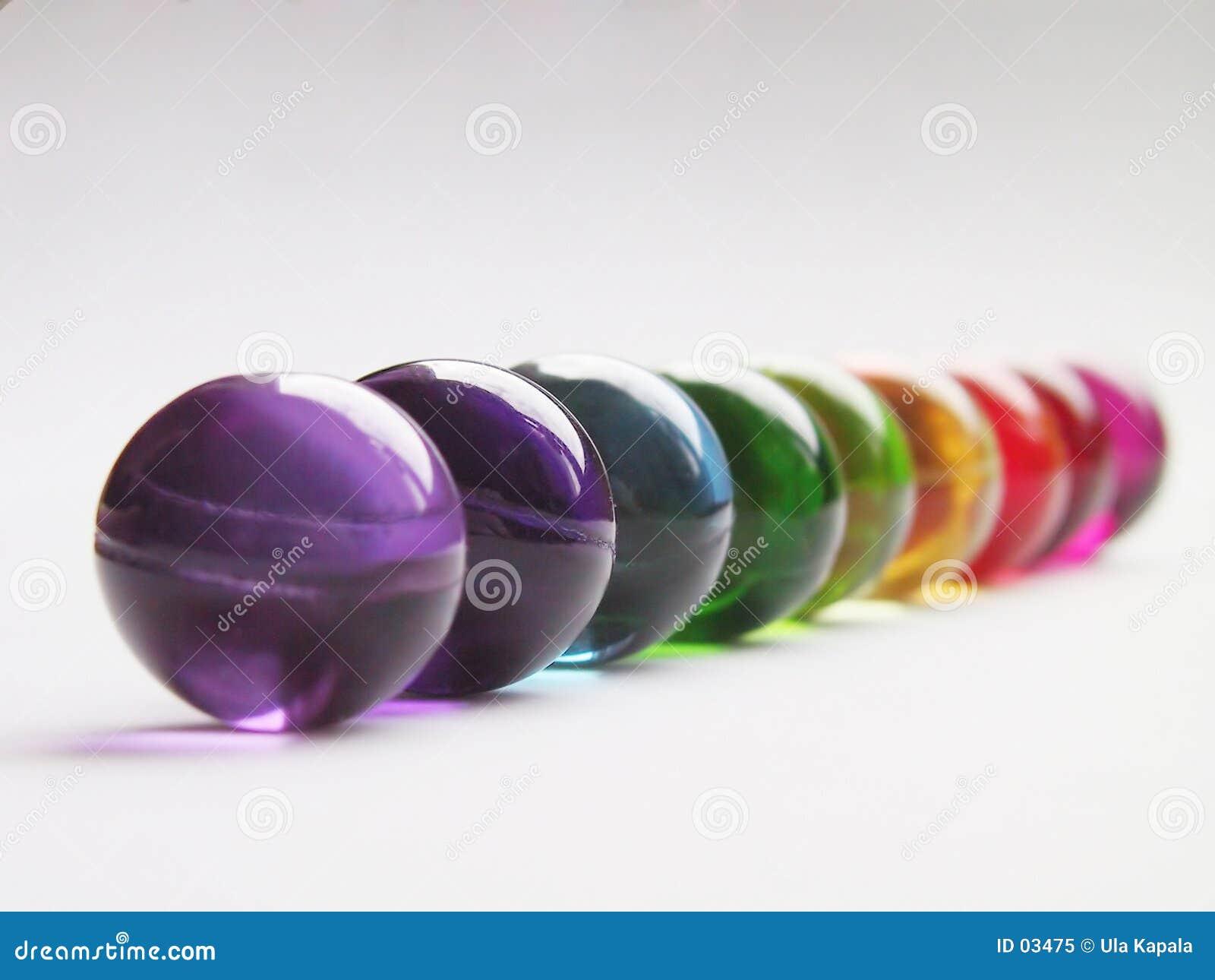Bath balls rainbow