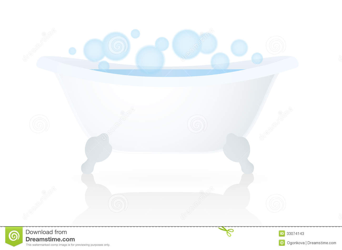 bath blanc baquet baignoire avec des bulles photos stock image 33074143. Black Bedroom Furniture Sets. Home Design Ideas