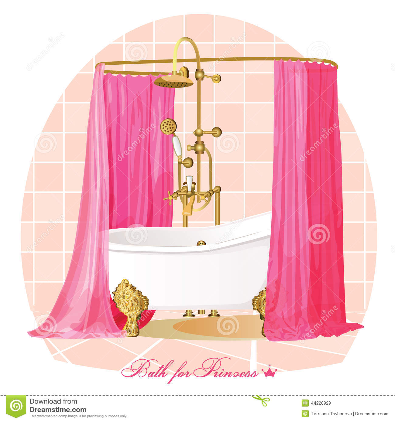 Luxury Bathroom Vector Illustration