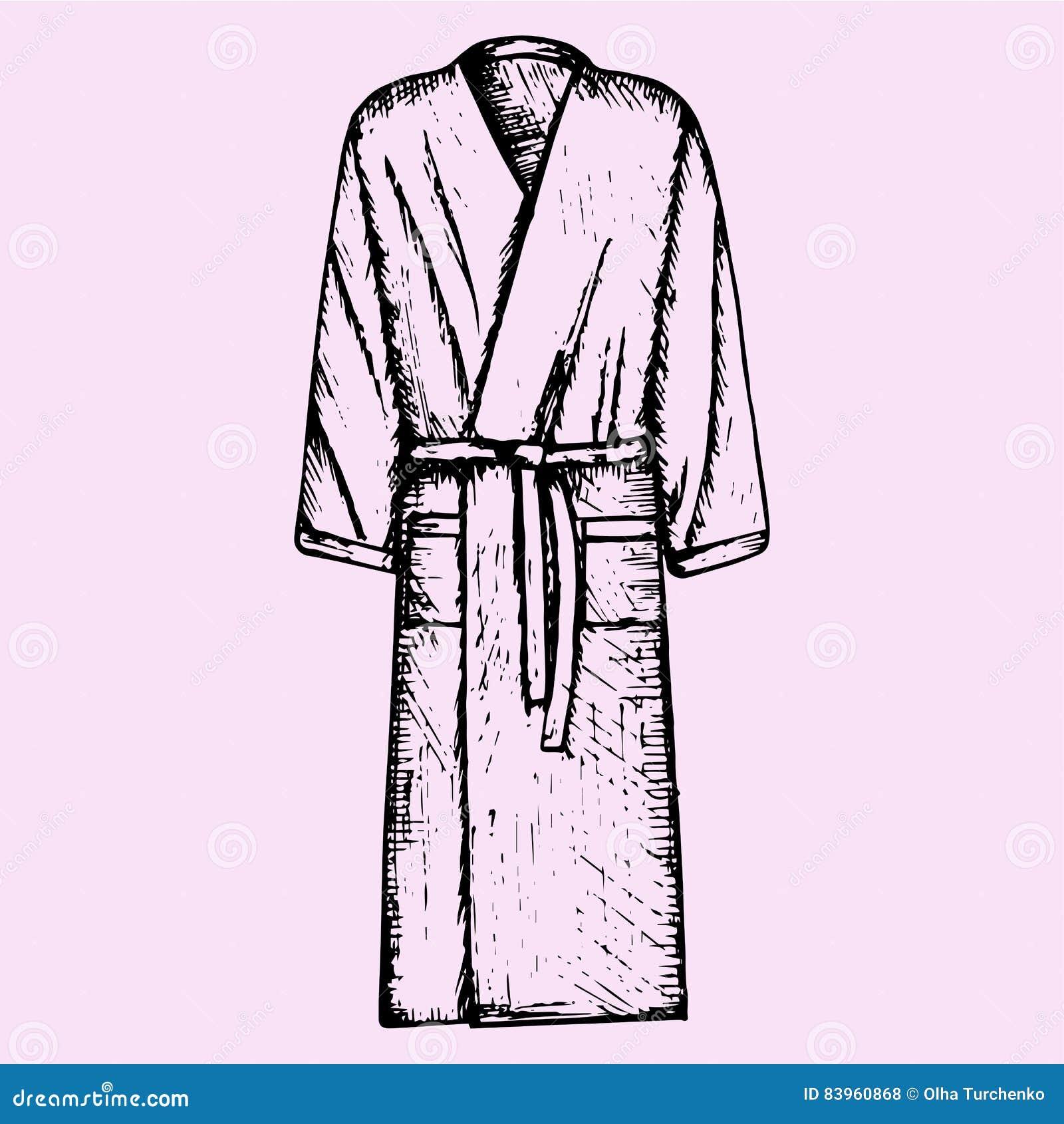 5b42a0ef69 Bath robe stock vector. Illustration of clothing