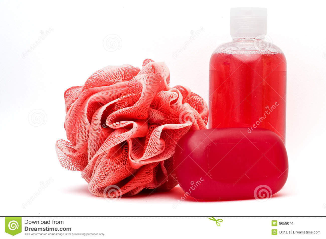 Bath Rose Shower Gel And Soap Bar Stock Photography