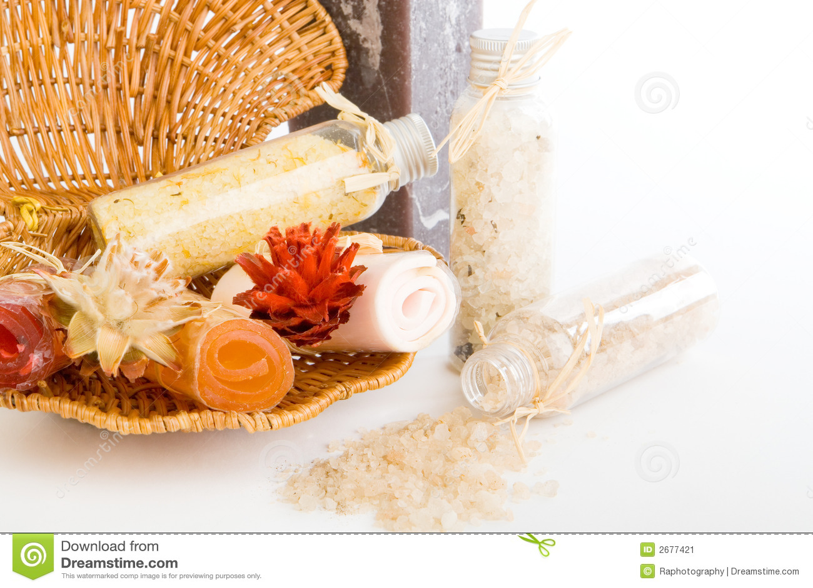 Bath salts with soap