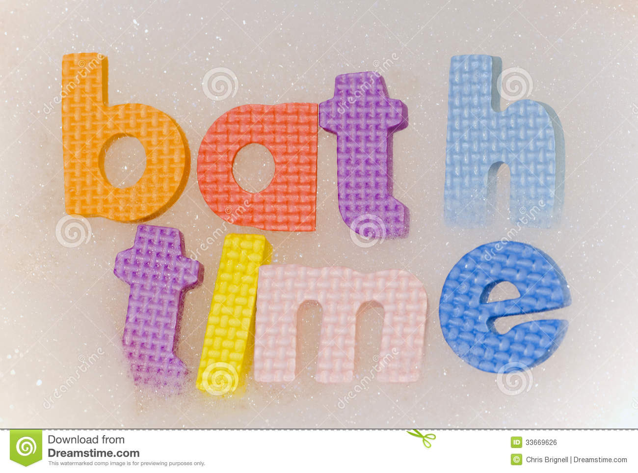 Bath Time Foam Letters Stock Photo Image Of Cleaning