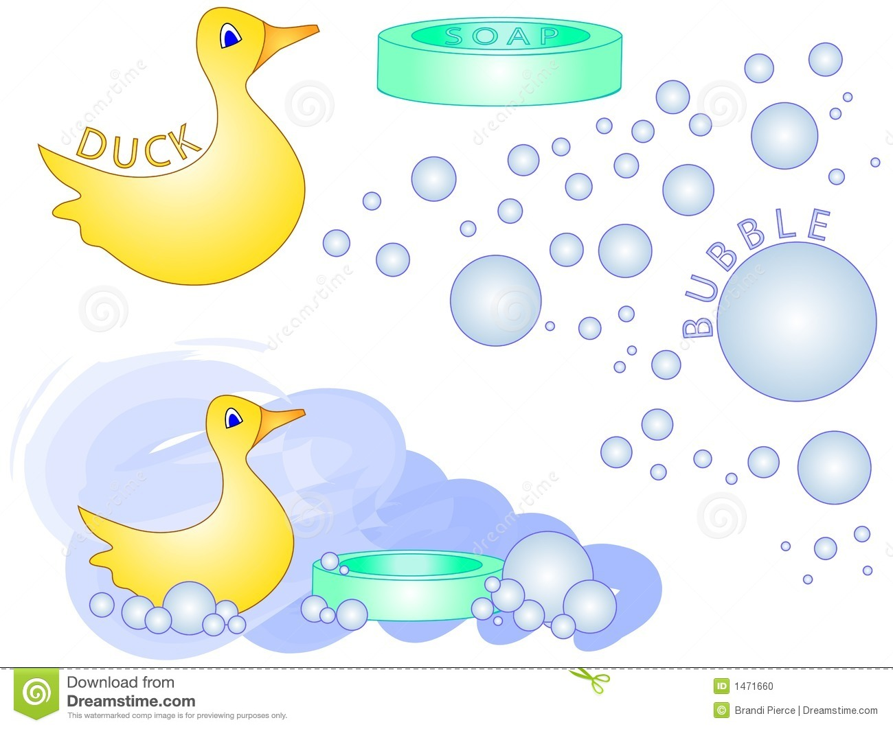 Bath Time Clip Art Bath time rubber duck [vector]