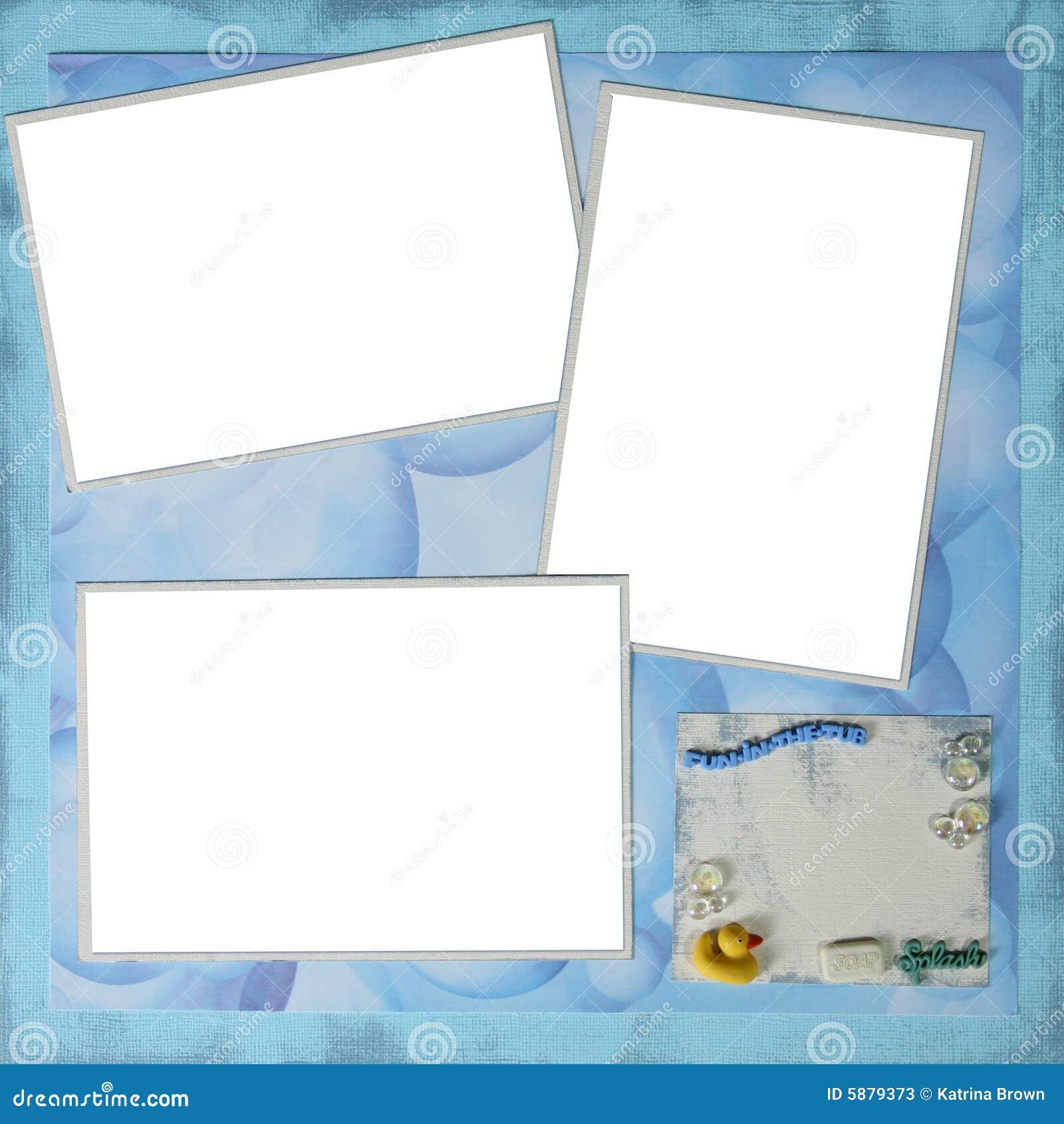 bath time theme digital scrapbooking page 12 x 12 stock image