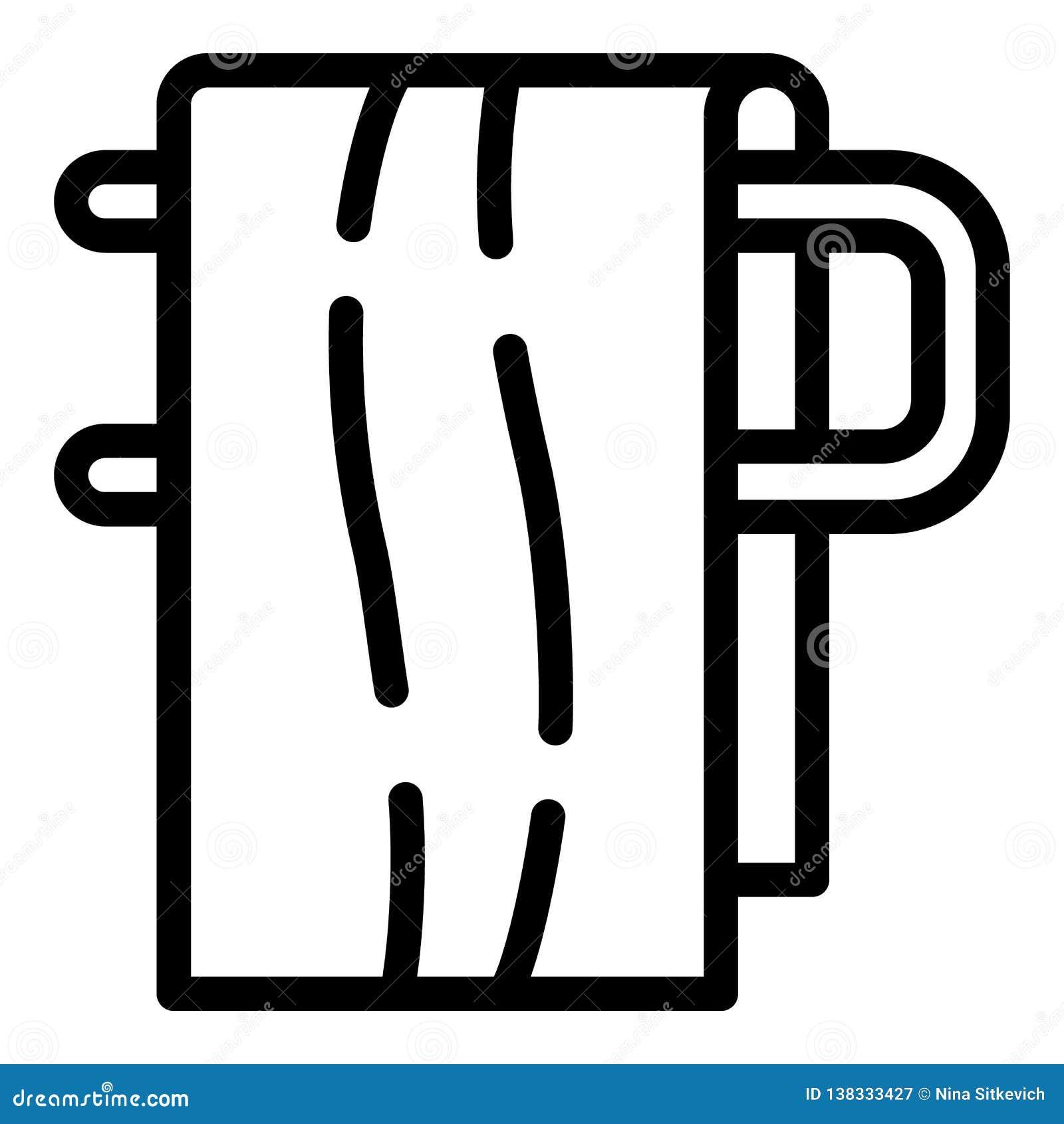 Bath towel icon, outline style