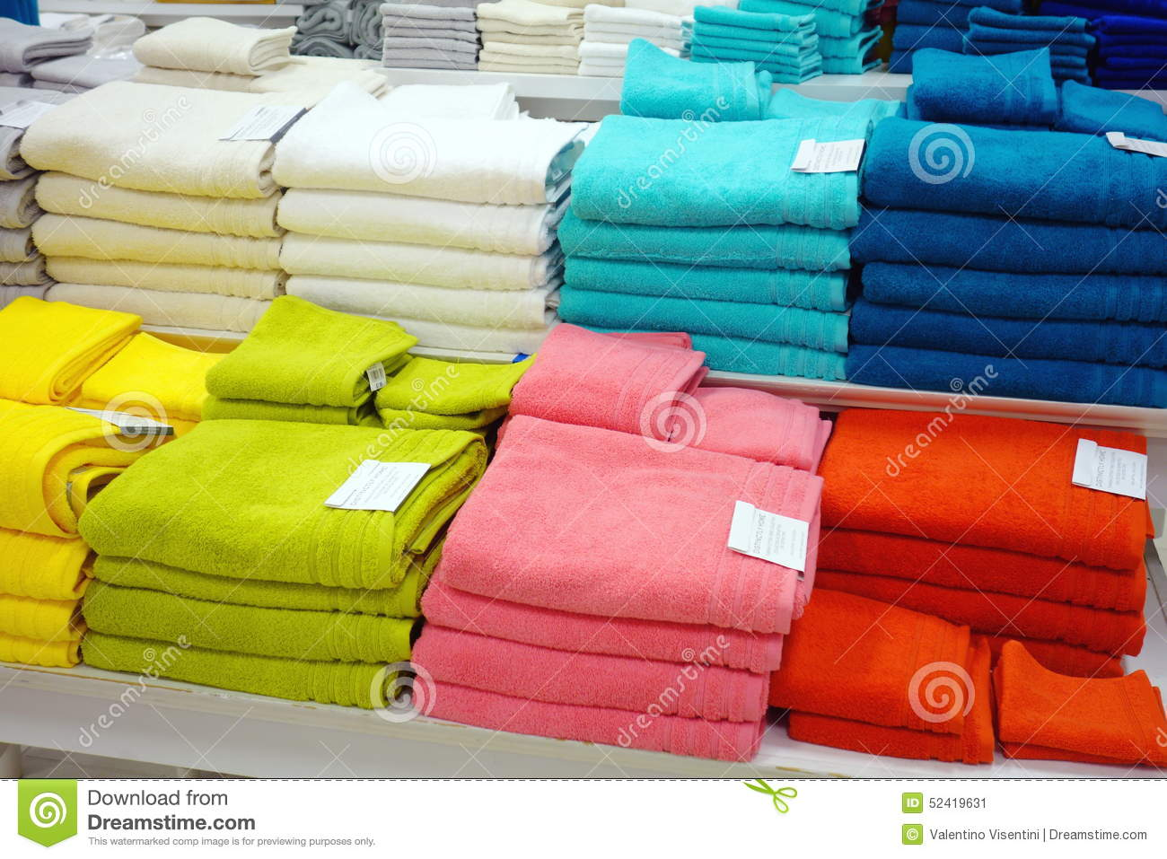 Bath Towels editorial photo. Image of piled, fashion ...