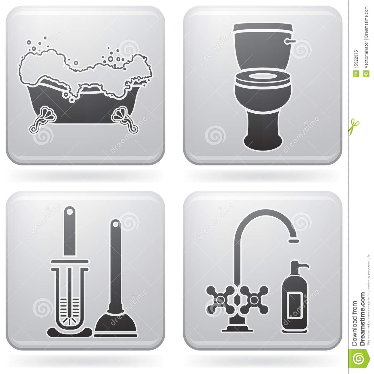 Bath utensils royalty free stock photo image 15322375 for Bathroom utensils