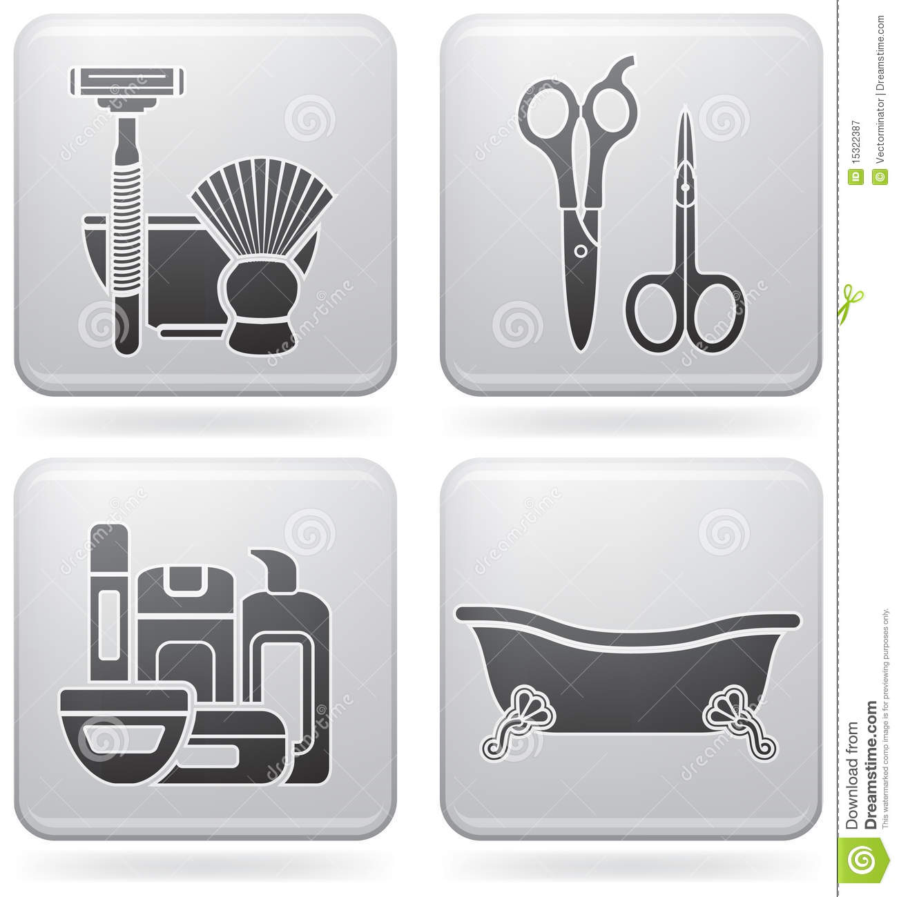 Bath utensils royalty free stock photography image 15322387 for Bathroom utensils