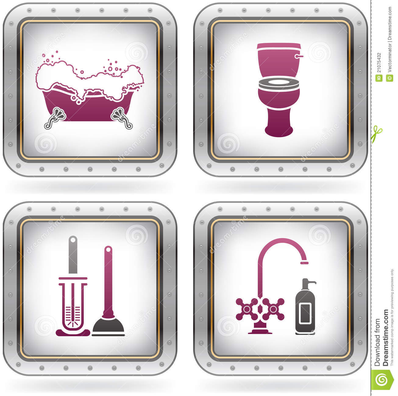 Bath utensils stock photography image 21075432 for Bathroom utensils