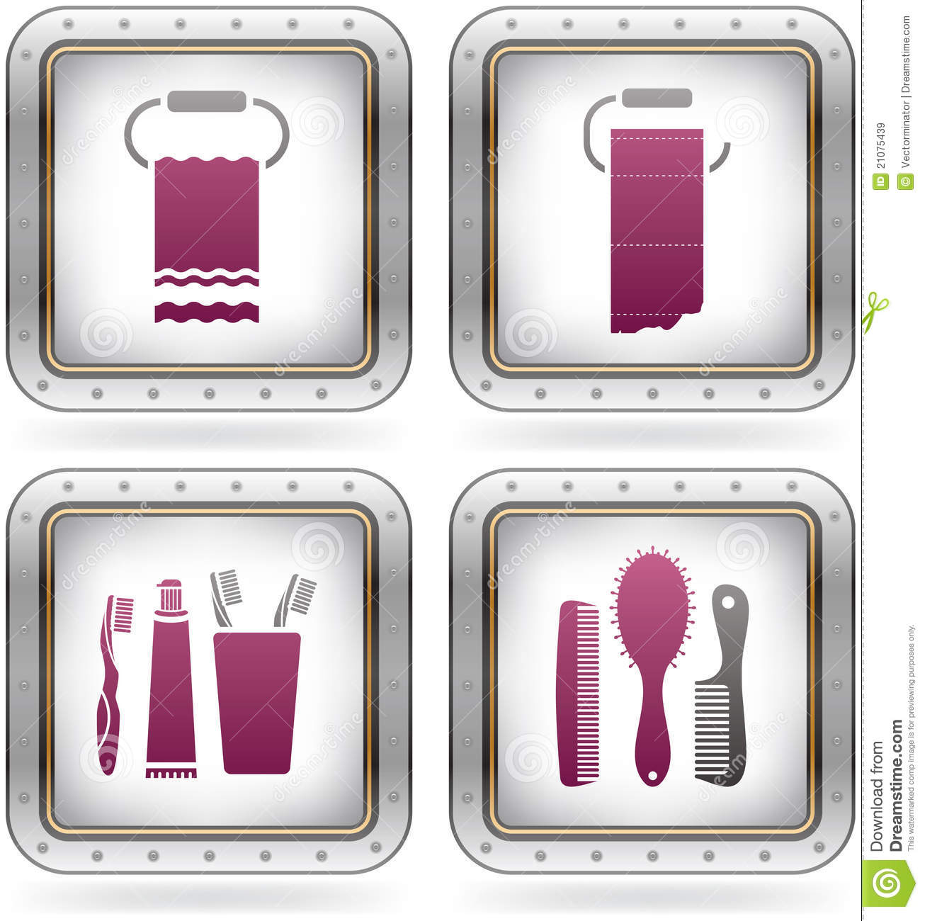 Bath utensils royalty free stock images image 21075439 for Bathroom utensils
