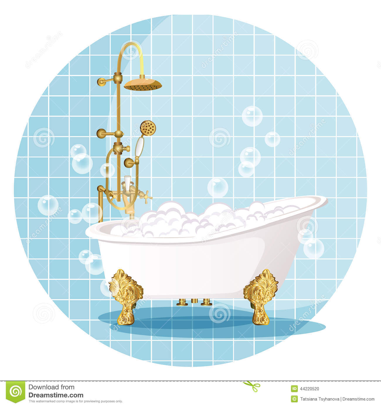 Bath. Vector Illustration. Stock Vector. Illustration Of