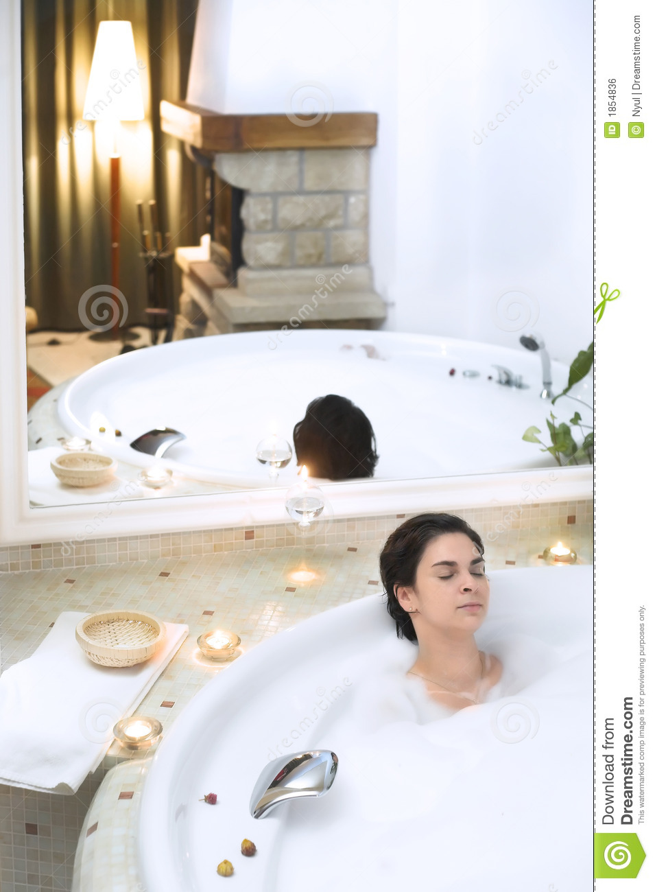 Bathtub Bubbles Vector
