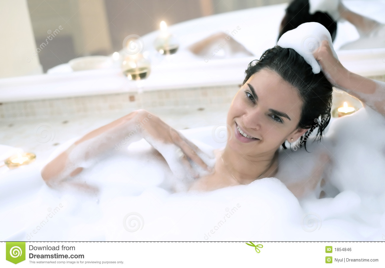bath in a whirlpool hot tub jacuzzi stock photo image. Black Bedroom Furniture Sets. Home Design Ideas