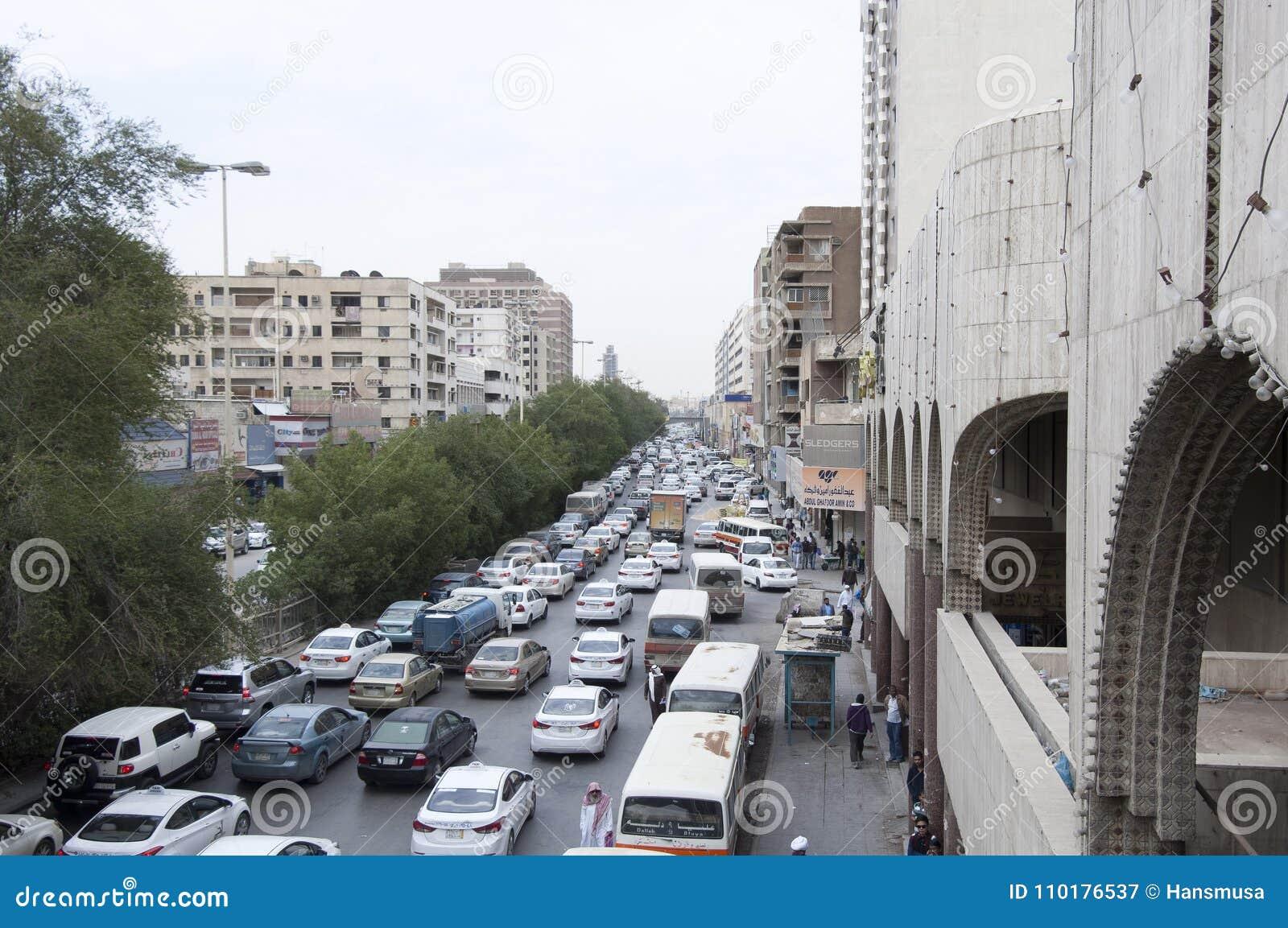 Batha Steet, Cars Traffic In Old Riyadh, Saudi Arabia, 01 12