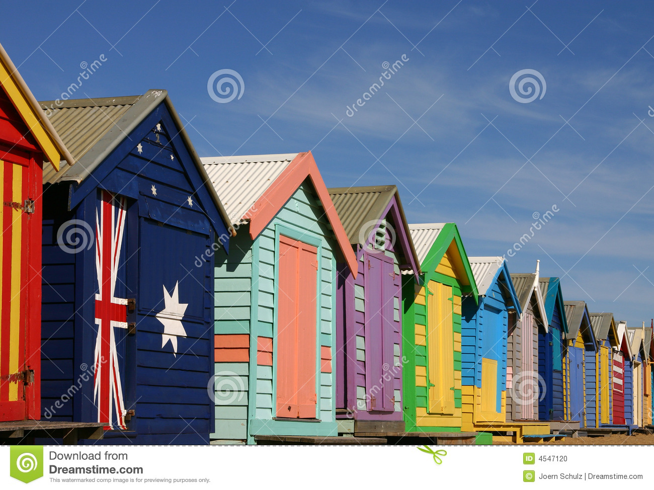 Bathing Boxes In Melbourne Stock Photo Image 4547120