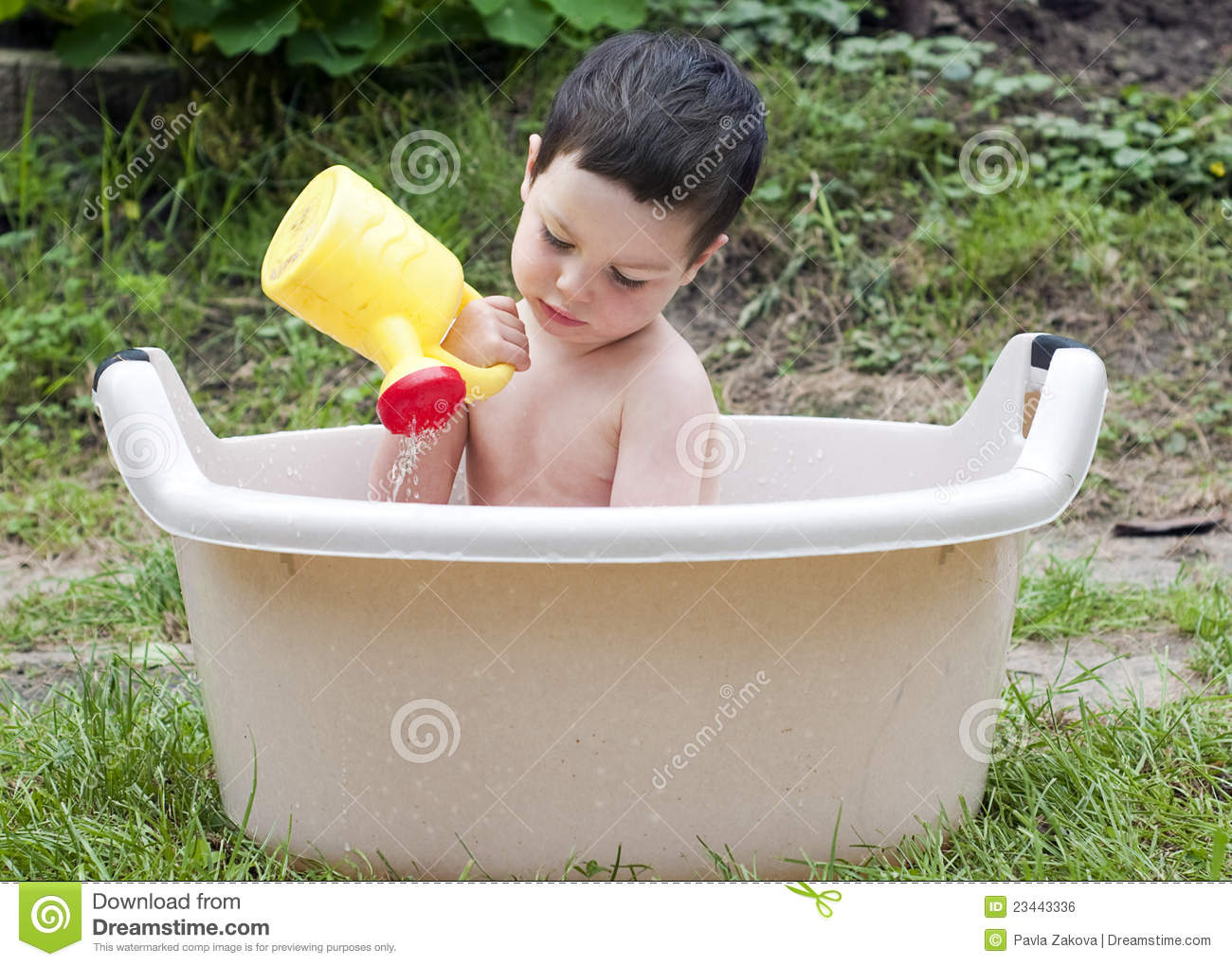 Bathing Child Royalty Free Stock Image Image 23443336