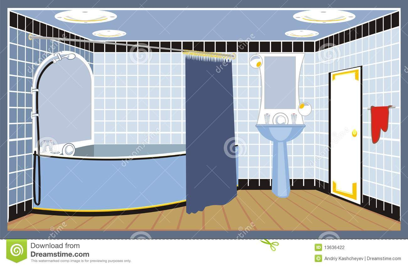 Bathroom Floor Clipart : Bathroom stock photography image