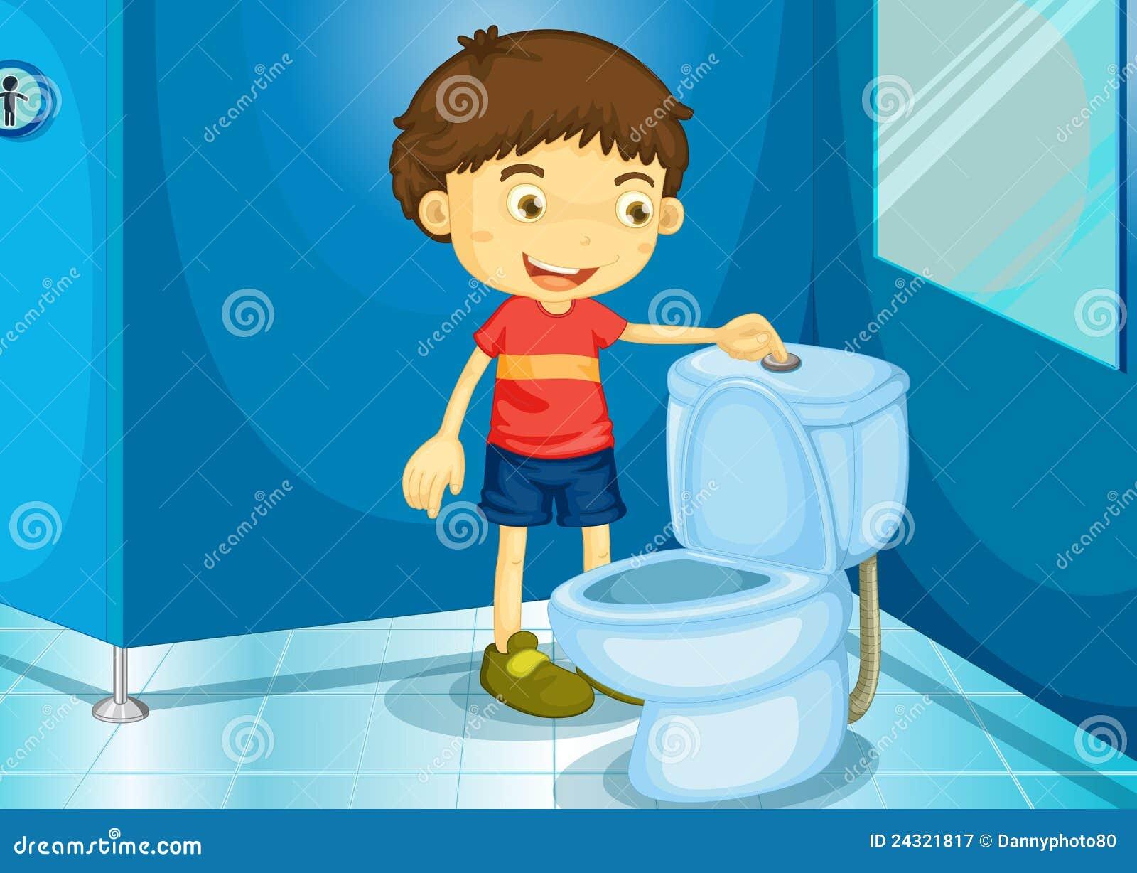 Bathroom stock vector illustration of water restroom for Badezimmer clipart