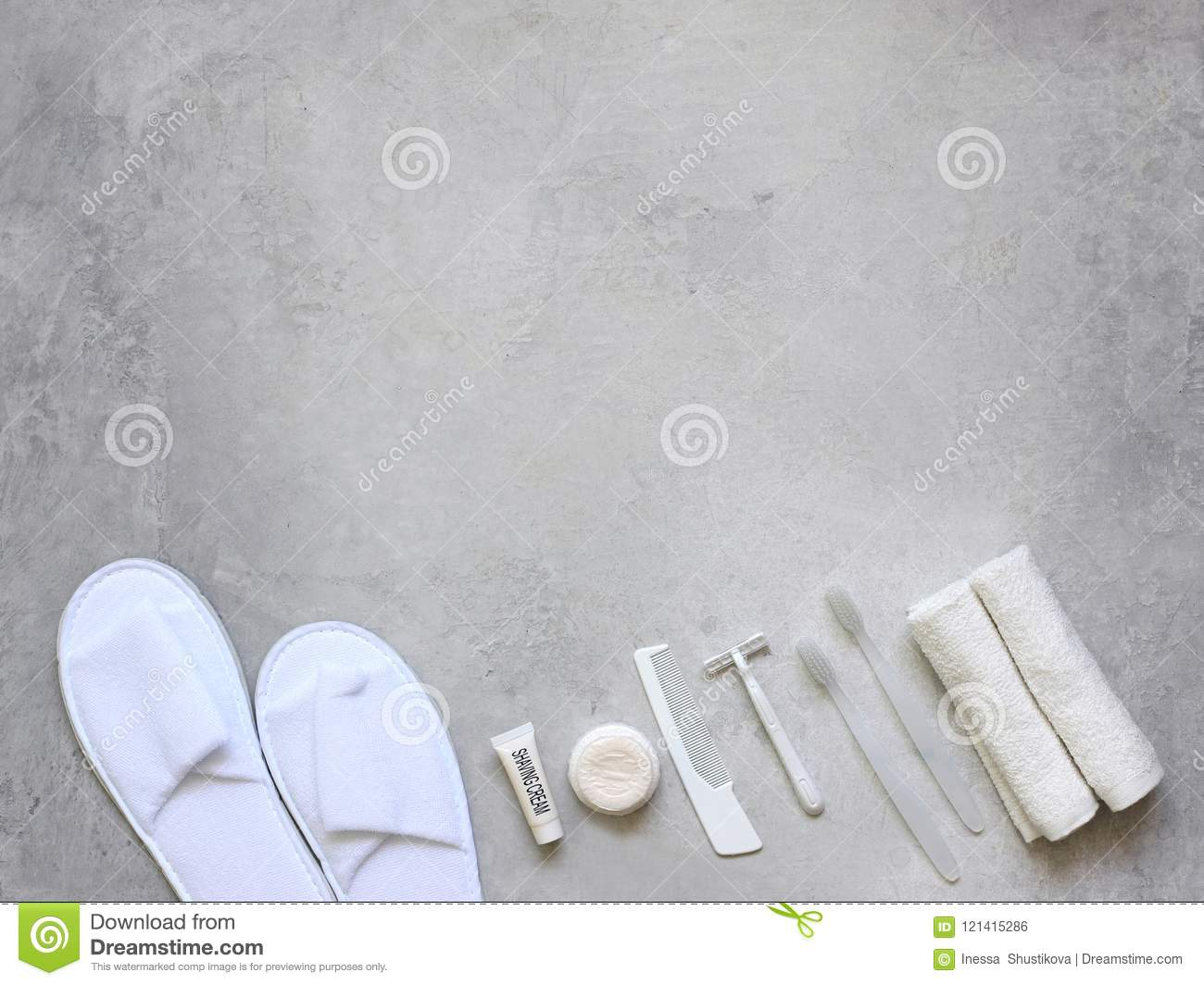 Bathroom Accessories . Travel Kit With You . Stock Photo - Image of ...