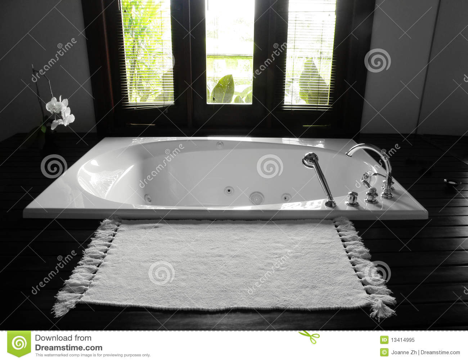 Bathroom bathtub, luxurious interior