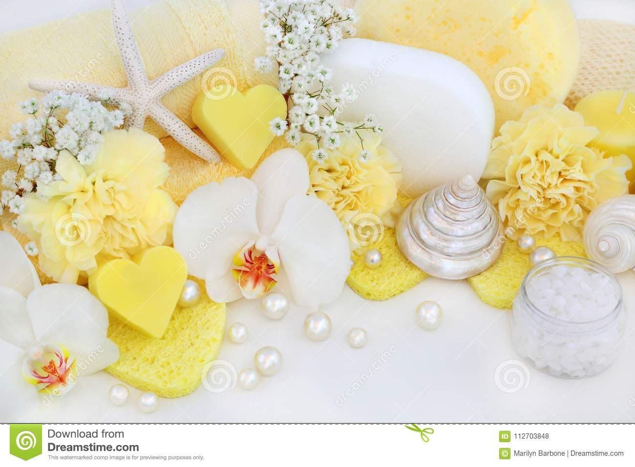 Bathroom Beauty And Cleansing Accessories Stock Photo - Image of ...