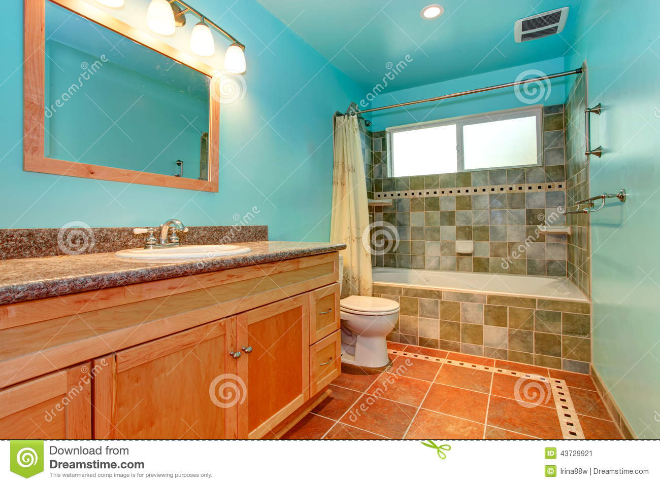 Bright colored bathrooms - Royalty Free Stock Photo Download Bathroom In Bright Blue Color
