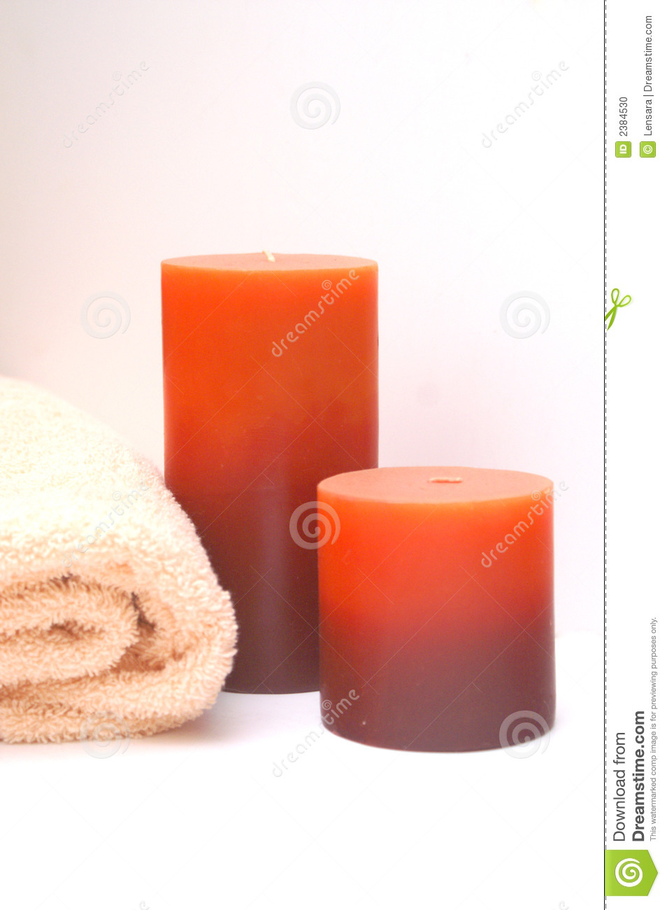 Bathroom Candles Stock Photo Image 2384530