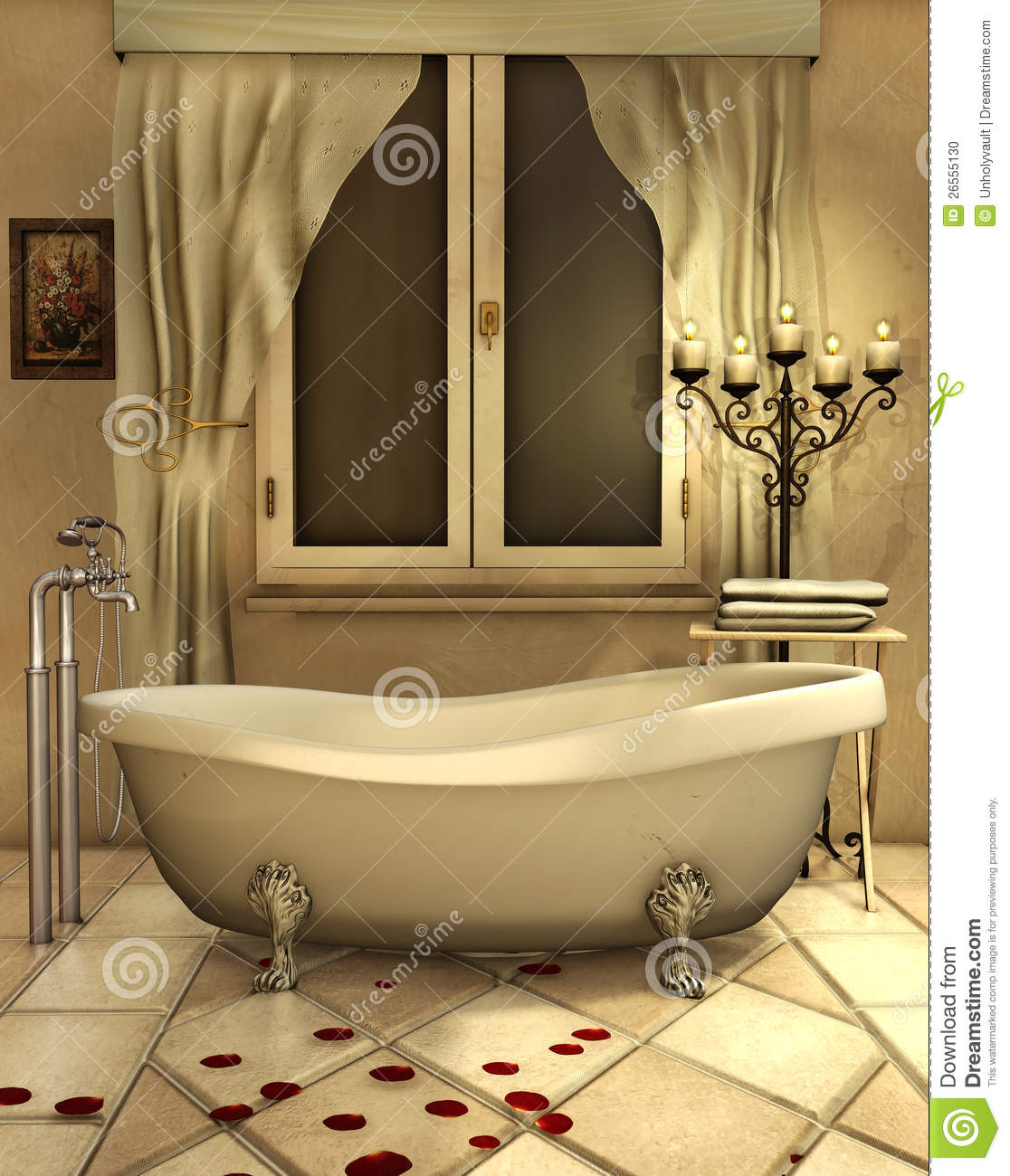 Bathroom With Candles Stock Photo Image 26555130