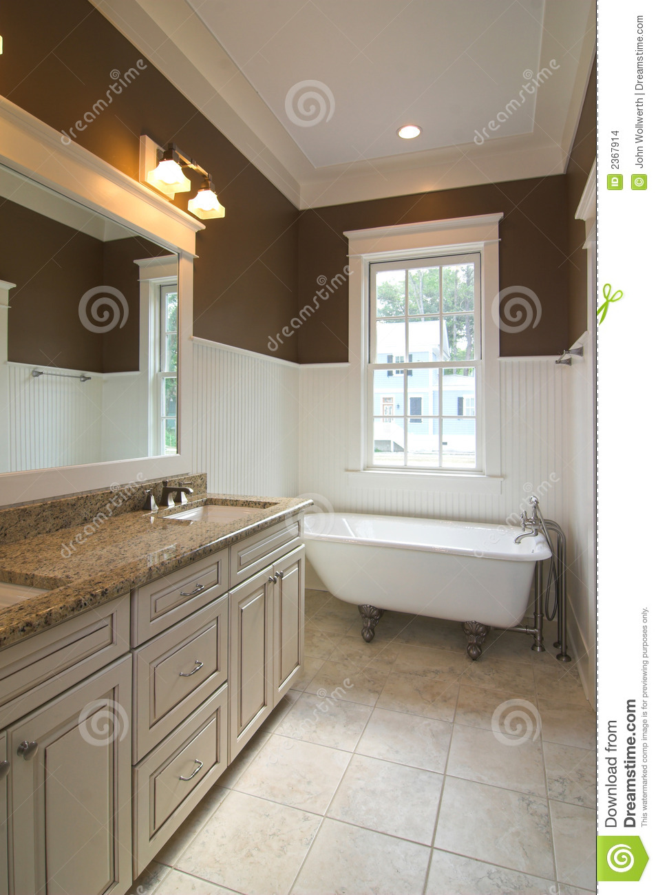 Bathroom Beautiful Clawfoot Floor Tile Tub ...