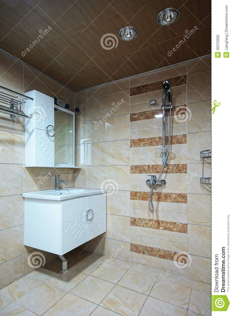 Bathroom stock photo image 30372690 - How to thoroughly clean your bathroom ...
