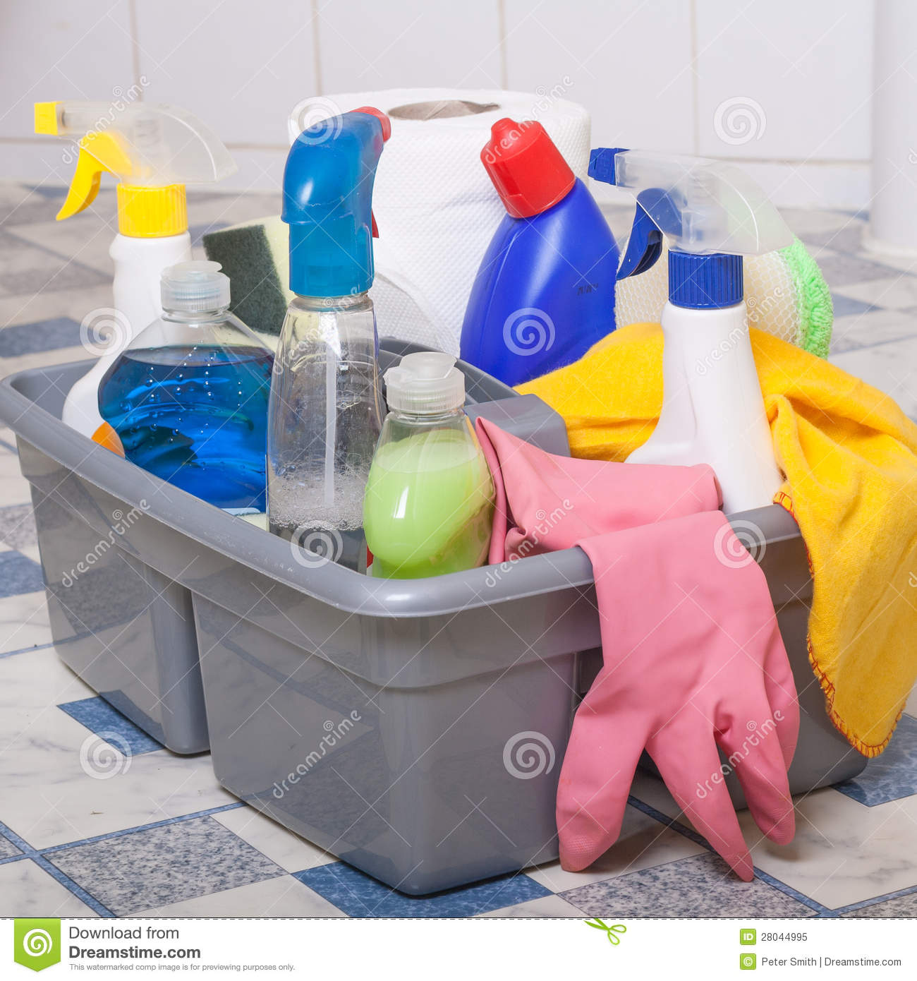 Kitchen Cleaning: Cleaning Bathroom Clean Kitchen Royalty Free Stock Photo